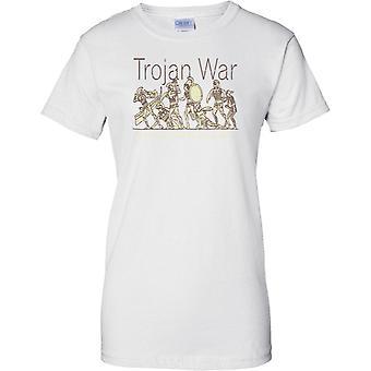 Guerra de Troya batalla escena - Troy - señoras T Shirt