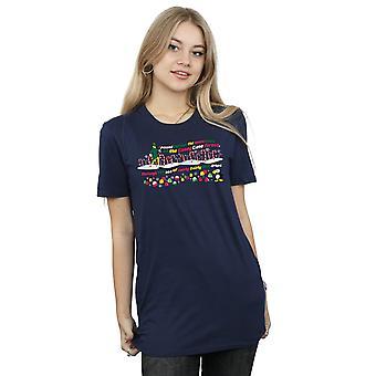 Elf Women's Candy Cane Forest Boyfriend Fit T-Shirt
