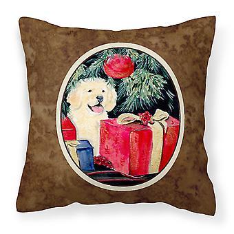 Carolines Treasures  SS8578PW1414 Golden Retriever Fabric Decorative Pillow