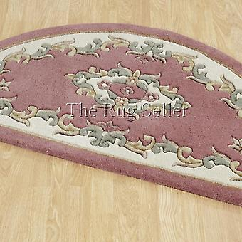 Royal Aubusson Half Moon Rugs In Pink Cream