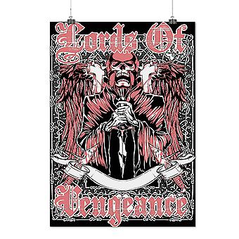 Matte or Glossy Poster with Lords Of Vengeance Skull | Wellcoda | *d982