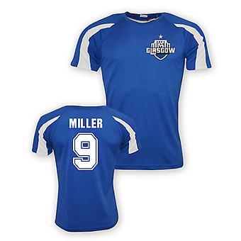 Kenny Miller Rangers formation maillot de sport (bleu)
