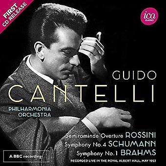 Brahms / Schumann / Cantelli - symfoni 4 / symfoni 1 [CD] USA import