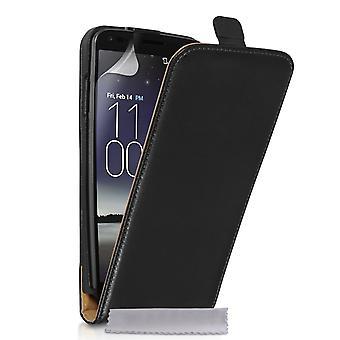 Caseflex LG G Flex Real Leather Flip Case - Black