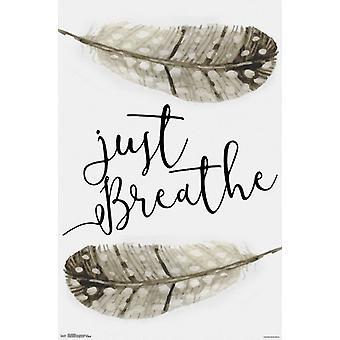 Po prostu oddychać plakat Poster Print