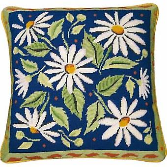 Blue Daisies Needlepoint Canvas