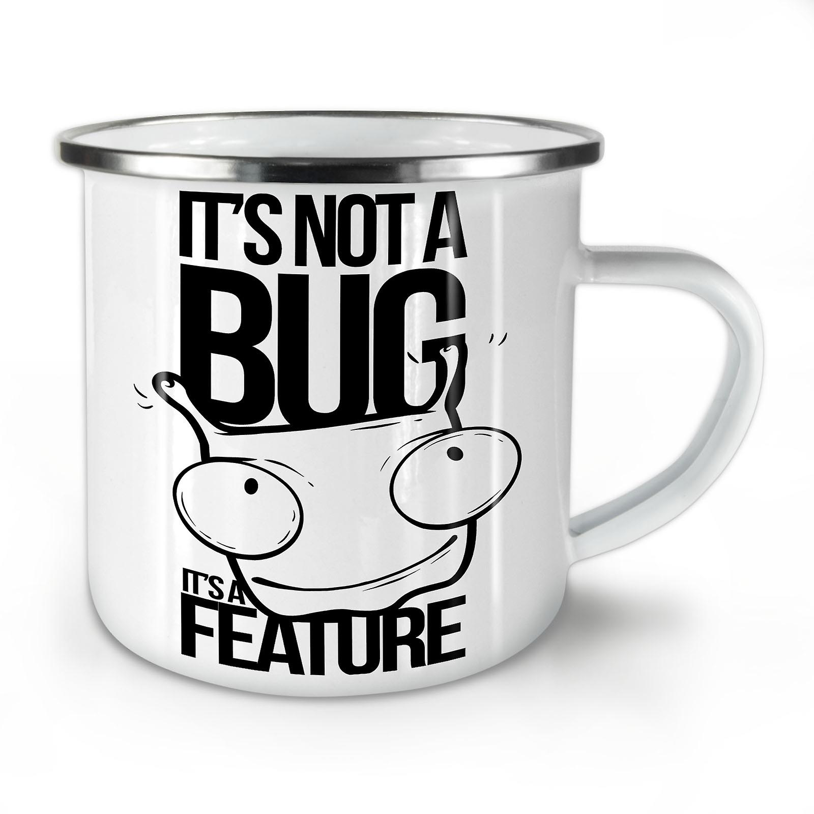 Enamel Mug10 Coffee Whitetea Geek OzWellcoda A Bug Not New htQrxsCdB