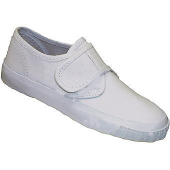 Mirak Girls Textile Plimsoll Sneaker Shoe Boxed White (Med)