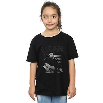 Johnny Cash Girls Guitar American T-Shirt
