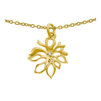 Orphelia Silver 925 Chain With Pendant Goldplated Zirconium  ZH-6027/2