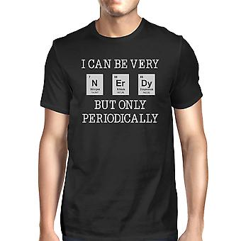 Nerdy Periodically Mens Black Weird Science T-Shirt Funny Gift Idea