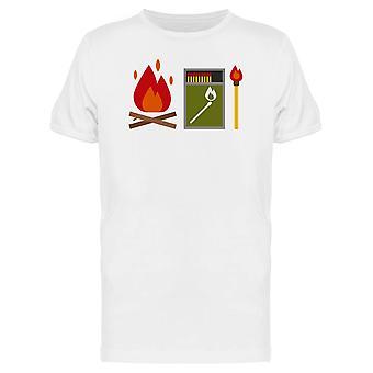 Fire Starter Matchbox Doodle Tee Men's -Image by Shutterstock