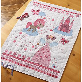 Fairytale Princess Crib Cover Stamped Cross Stitch Kit-34