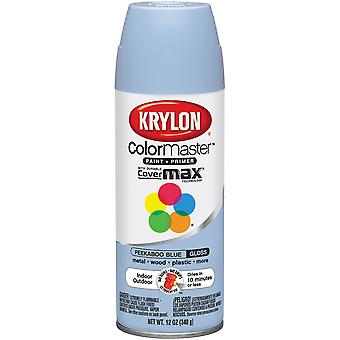 Colormaster Indoor/Outdoor Aerosol Paint 12oz-Gloss Peekaboo Blue