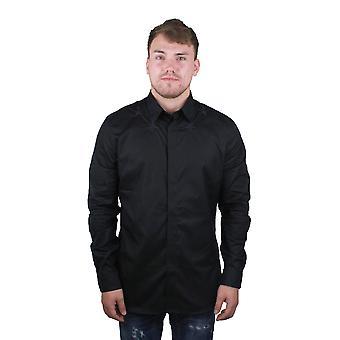 Givenchy BM601C1Y39 001 Black Mens camicia