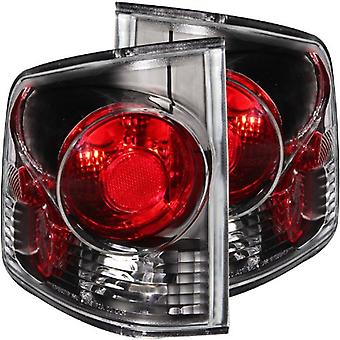 Anzo USA 211034 Chevrolet S10 3D Style Black Tail Light Assembly - (Sold in Pairs)