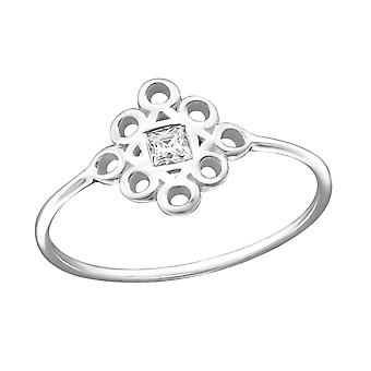 Diamond - 925 Sterling Silver Jewelled Rings - W27264X