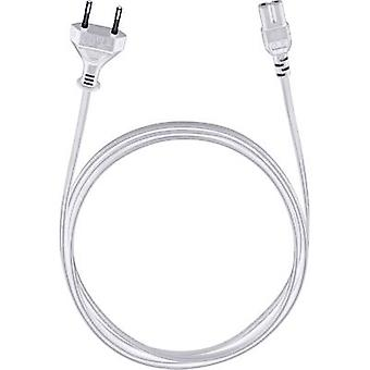 Current Cable [1x Europlug - 1x Small appliances socket (C7)] 5 m White Oehlbach Powercord C 7