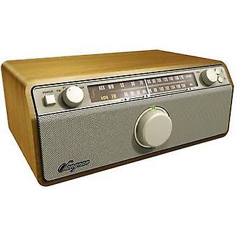 Tischplatte mit FM radio Sangean WR-12 AUX, AM, FM Nussbaum