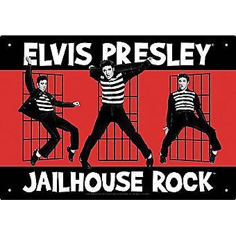 Elvis Presley Jailhouse Rock Metal Sign
