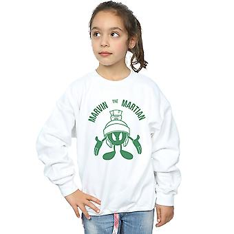 Looney Tunes Girls Marvin The Martian Large Head Sweatshirt