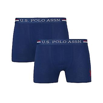 U.S. POLO ASSN. Men's 6 Pack Boxershorts Navy