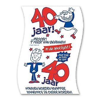 Toiletpapier 40jaar man nr09