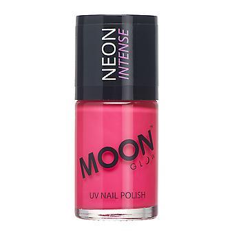 Månen glød - 14ml Neon UV neglelak - intens Pink