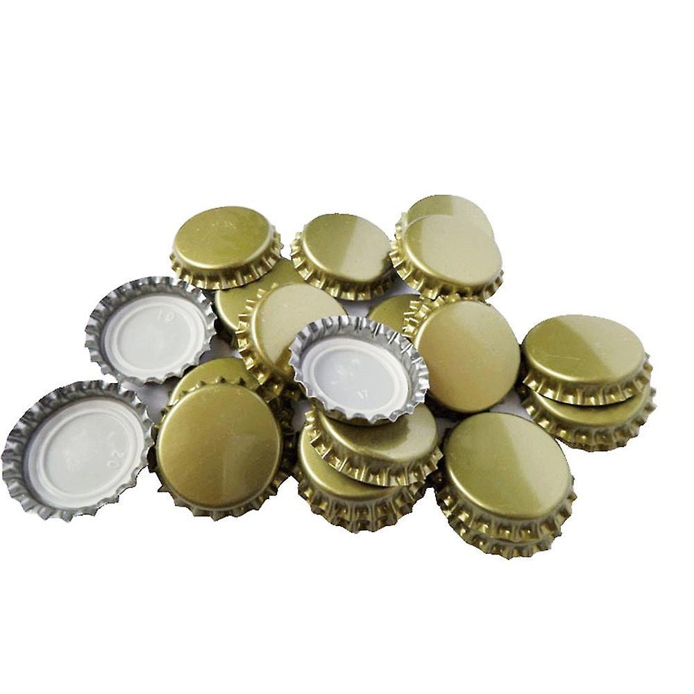 100pcs Krone Gold Metall 25 mm Kronkorken Home Brew Deckel Topper - von TRIXES