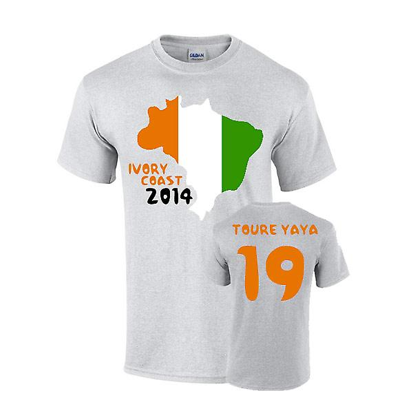 Costa d'Avorio 2014 Country Flag t-shirt (toure Yaya 19)
