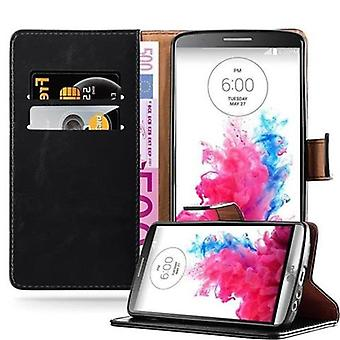 Cadorabo case for LG G3 - case in the luxury design with card holder and stand function - case cover sleeve pouch bag book