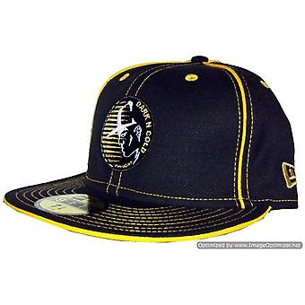 Dark n Cold Original Capman Fitted Baseball Cap Black Gold