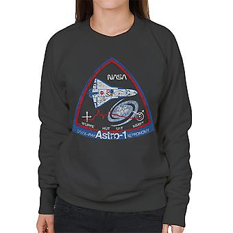 NASA ASTRO 1 Observatory STS 35 Mission Badge Distressed Women's Sweatshirt