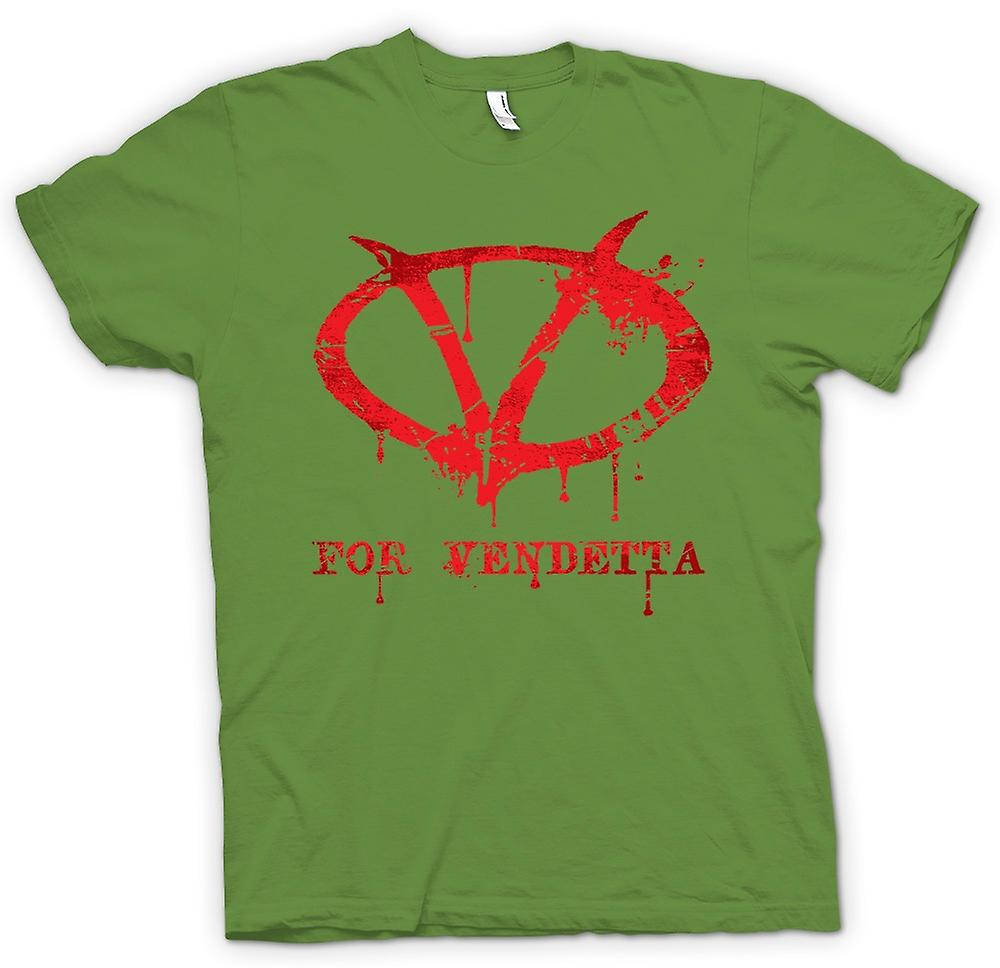 Mens t-shirt - V per Vendetta - Graffiti Logo