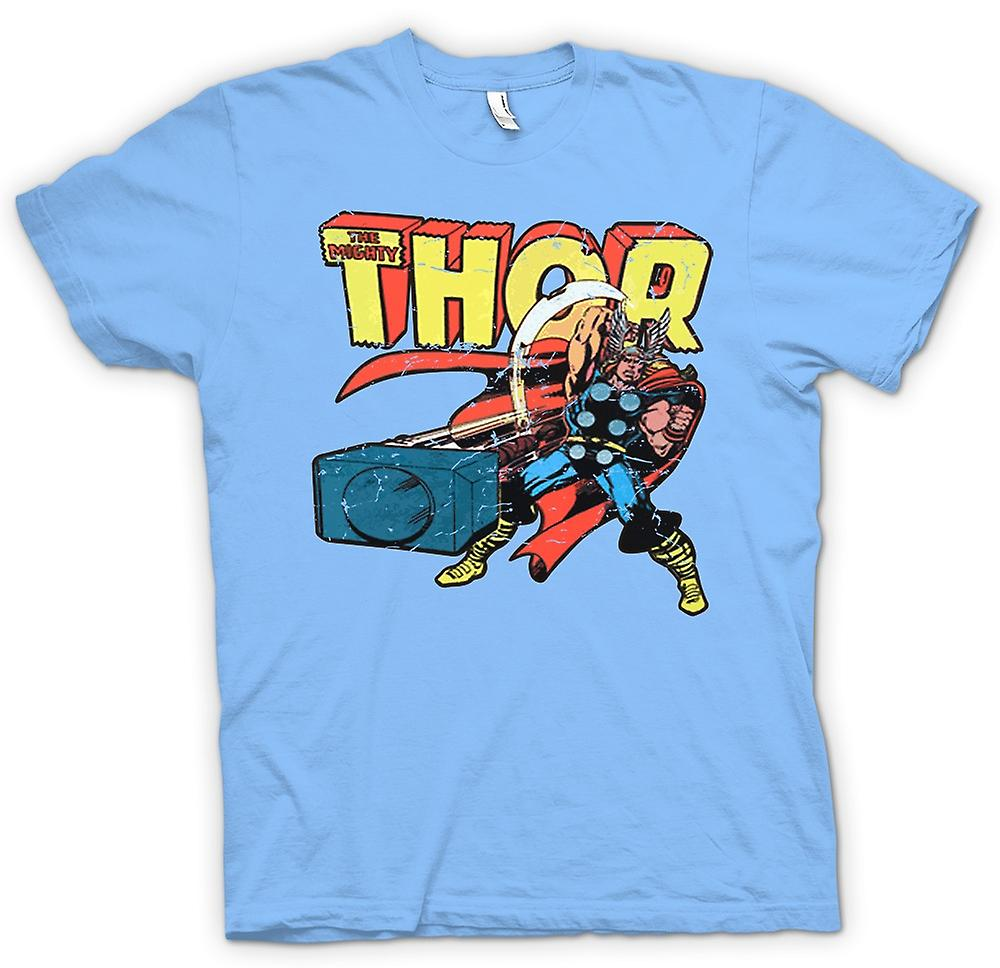 Mens T-shirt - The Mighty Thor In Action