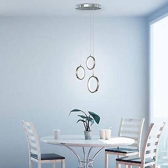 Modern Pendant Lamp Chandelier New Ceiling Light Nickel 3 Pendant   Round Canopy