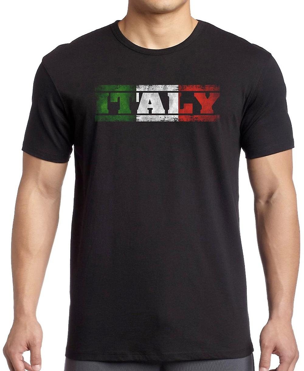 Italian Italy Flag - Words Kids T Shirt