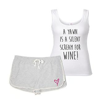 A Yawn Is A Silent Scream For Wine Pyjamas