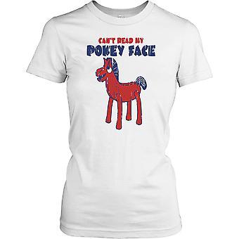 Cant Read My Pokey Face - Pokey Pony Ladies T Shirt