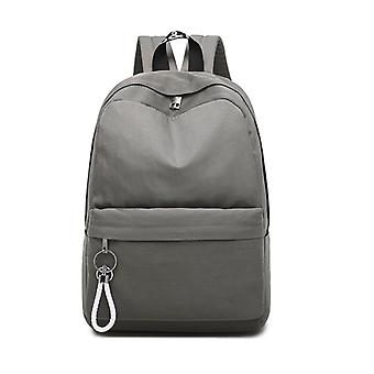 Simple Backpack with a laptop compartment-Grey