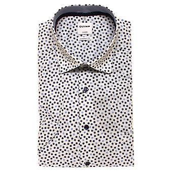 Olymp Shirt 1084 32 11 Short Sleeve Blue