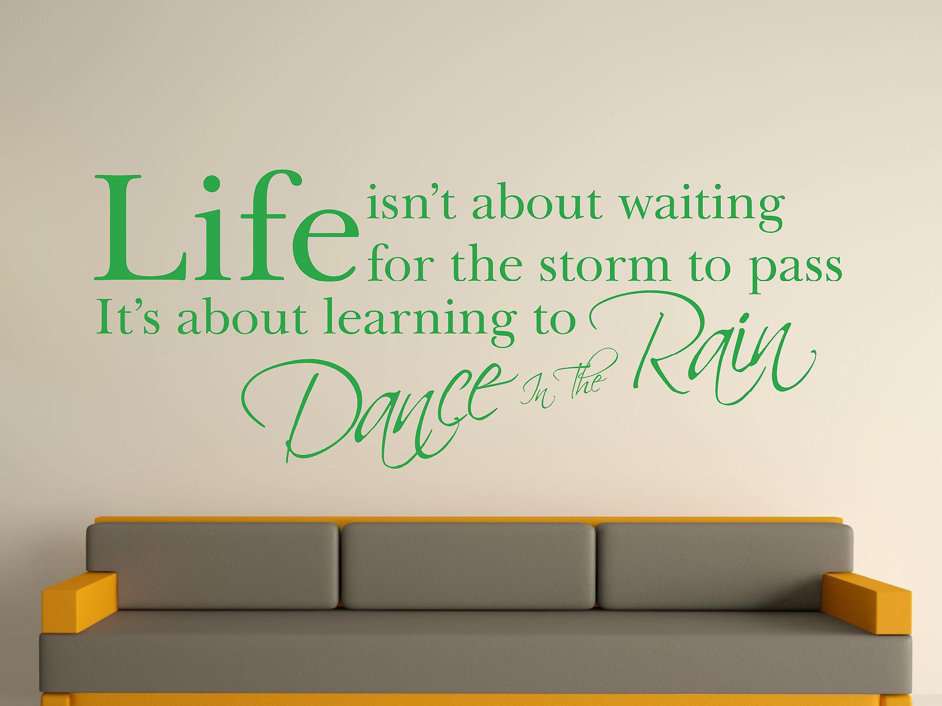 Dance In The Rain Wall Art Sticker -  Green