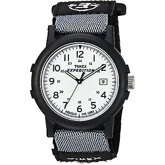 Timex ekspedisjonen T49713 Analog armbåndsur, hvit/svart
