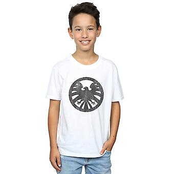 Marvel Boys Agents Of SHIELD Distressed Logo T-Shirt