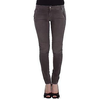 Ermanno Scervino Gray Slim Jeans Denim Pants Skinny Leg Stretch -- SIG1159301