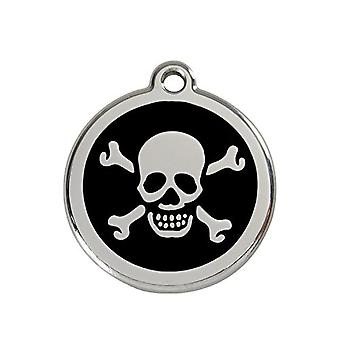 Red Dingo Pet Collar Identification Tag - Skull And Crossbones