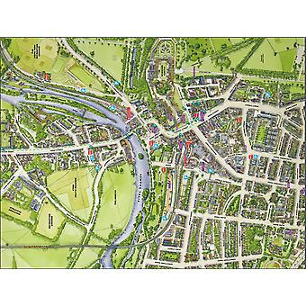 Cityscapes Street Map Of Windsor 400 Piece Jigsaw Puzzle 470mm x 320mm (hpy)