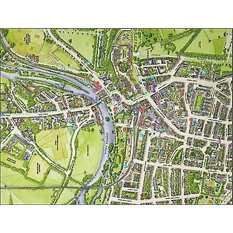 Mapa de rua Cityscapes de Windsor 400 Piece Jigsaw Puzzle 470 x 320 mm (feliz)