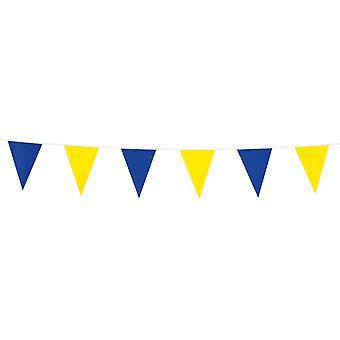 Flaggirlang – Vimpelgirlang jaune et bleu-3 m.