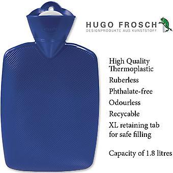 Hugo Frosch Hot Water Bottle Classic Blue 1.8L